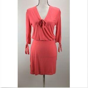 Ecoskin XS Dress Casual Short Sleeve Pink W93